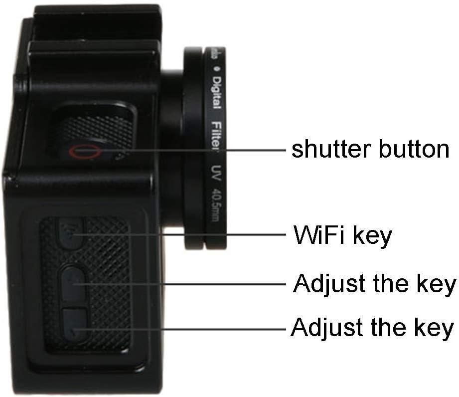 Color : Black ZMKK Universal Aluminum Alloy Protective Case with 40.5mm Lens Diameter /& Lens Protective Cap