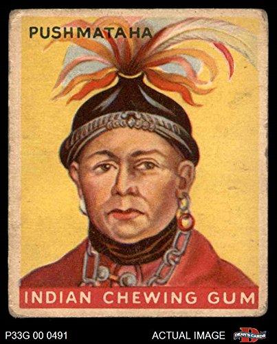 1933 Goudey Indian Gum # 97 Push-Ma-Ta-Ha (Card) Dean's Cards 2 - GOOD - Indian Gum