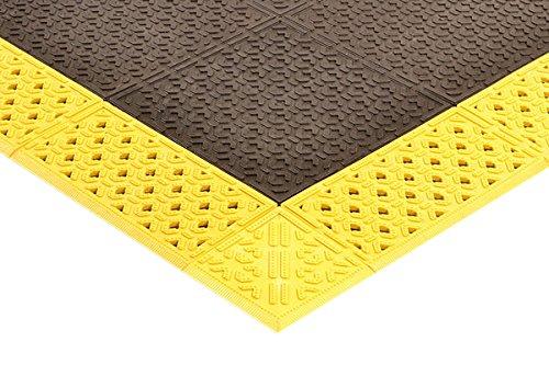 NoTrax 920H4272BY Cushion-Lok Heavy Duty Solid 42X72 Black/Yellow, 0.875