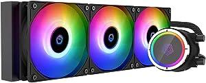 ID-COOLING ZOOMFLOW 360X ARGB CPU Water Cooler 5V Addressable RGB AIO Cooler 360mm CPU Liquid Cooler 3X120mm RGB Fan, Intel 115X/2066, AMD TR4/AM4