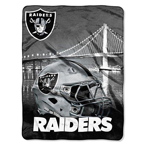 The Northwest Company NFL Oakland Raiders Silk Touch Raschel Super Plush Throw, One Size, ()