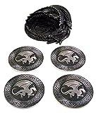 Dragon Coaster Holder With 4 Coaster Set