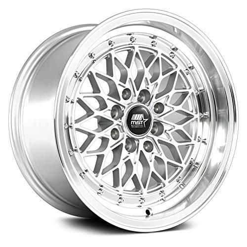 MST MT36 Custom Wheel Silver - with Machined Lip Rims - 15