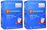Walgreens Certainty Belted Shields with Hooks & Loop Fasteners, 30 ea (Pack of 2)