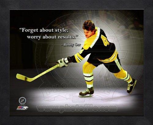 Bobby Orr Boston Bruins Pro Quotes Framed 8x10 - Boston Bruins Framed Orr Bobby