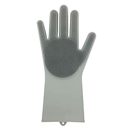 We Store1 Silicone Gloves for Cleaning Scrubber Reusable Heat Resistant (1 Pair)