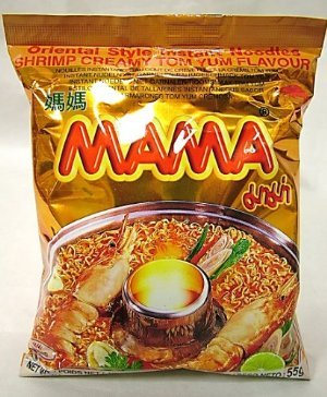 Mama Shrimp Creamy Tom Yum Flavour Instant Noodles, 1 Pack (Shrimp Creamy)