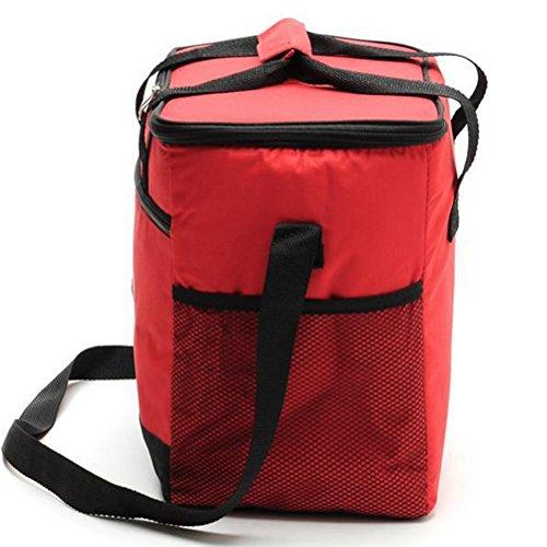 ycbwb 15 Litres Portable Paquet de Pique-Nique Paquet d'Isolation Épais Barbecue Fournitures Pique-Nique Vaisselle Set Équipement de Plein Air Costume Sac à Bandoulière (Couleur: Rouge) par SHOME
