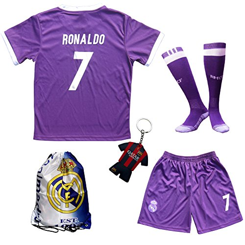 newest 47601 f9638 chic 2016/2017 Real Madrid Cristiano Ronaldo #7 Away Purple ...