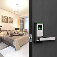 Electronic Smart Lock Biometric Fingerprint Door Lock with Bluetooth Keyless Home Entry with Your Smartphone / Fingerprint Locks for Bedroom