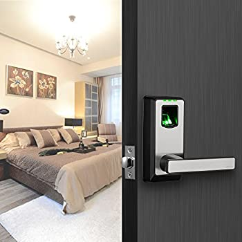 ZKTeco Electronic Smart Lock Biometric Fingerprint Door Lock with Bluetooth Keyless Home Entry with Your Smartphone/Fingerprint Locks for Bedroom