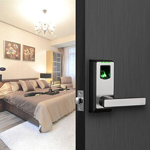 ZKTeco PL10B Electronic Smart Lock Biometric Fingerprint Door Lock with Bluetooth Keyless Home Entry with Your Smartphone / Fingerprint Locks for Bedroom