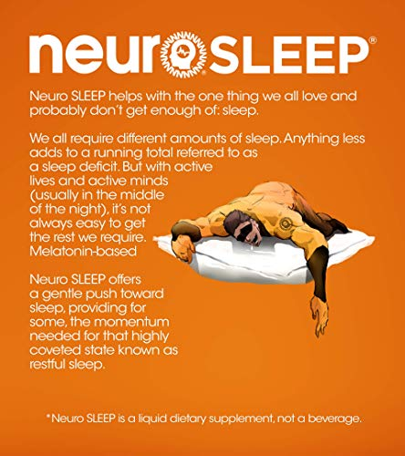 Neuro Bliss Nutritional Supplement Drink White Raspberry: Neuro SLEEP Peach Apricot, 14.5 Oz Bottles (Pack Of 12