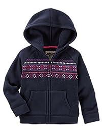OshKosh B'gosh Baby Girls' Hooded Fair Isle Sweater, Navy, 24 Months