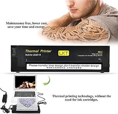 Impresora térmica profesional para tatuajes, fotocopiadoras ...