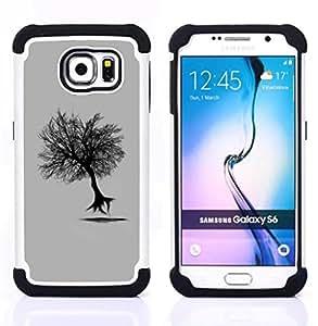 For Samsung Galaxy S6 G9200 - Flying Tree Dual Layer caso de Shell HUELGA Impacto pata de cabra con im??genes gr??ficas Steam - Funny Shop -