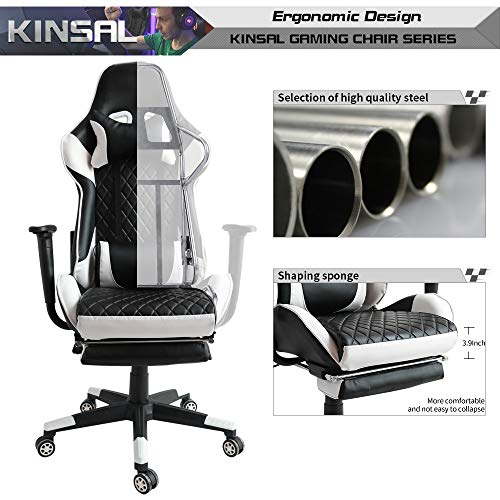 Kinsal Gaming Chair Including Headrest And Lumbar Support