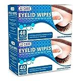 JJ CARE Eyelid Wipes [Box of 80] Eye Wipes, Eyelid