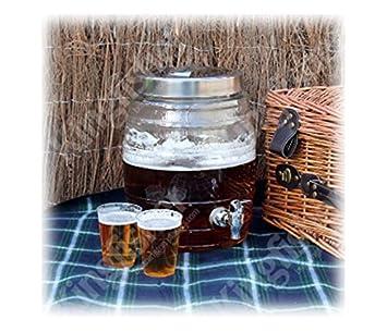Kingfisher 8L - Dispensador de cerveza (Sj400), cristal, 31,5 x 30,5 x 38 cm: Amazon.es: Hogar