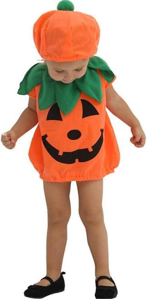 DIVISTAR Disfraz de Calabaza de Halloween para niñas y niños ...