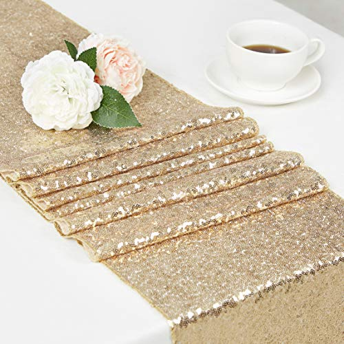 (DOLOPL Sequin Table Runners 12