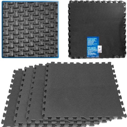 Ultimate Comfort Black Foam Flooring - 16 Square Feet