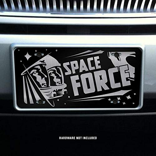 Space Force Vanity Front License Plate Tag KCE305 KCD