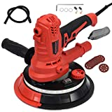 Goplus 900W Electric Hand Held Drywall Sander, Disc Sander Variable Speed with Vacuum, LED Light, 6 Sanding Papers and Dust Bag, Suitable for Ceilings and Walls (Led Strip Light)