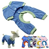Cheap GigaMax(TM) New Dog Pajamas Pet Clothes Clothing Puppy Coat Cat Jumpsuit Pet Supplies Products, Blue XL