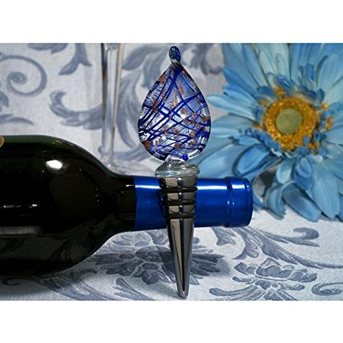 Murano Art Deco Collection Tear Drop Design Wine Stopper - 84 Pieces by Cassiani