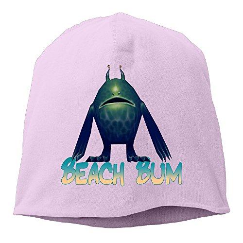 Men's Beach Bum Wig (Caryonom Adult Beach Bum Beanies Skull Ski Cap Hat Pink)