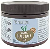Black Maca Capsules – Raw, Certified Organic, Fresh Harvest From Peru, Fair Trade, Gmo-free, Gluten Free and Vegan – 750 Mg, 200 Ct For Sale