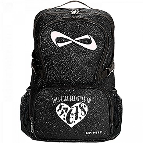8 Count Dance Glitter Nfinity Bag: Nfinity Sparkle Backpack Bag by Customized Girl