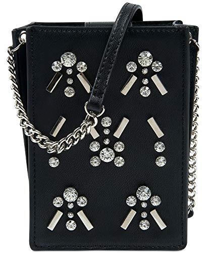 Nine Mini West Mini Bag (Nine West Womens Embellished Single Chain Crossbody Handbag Black Small)