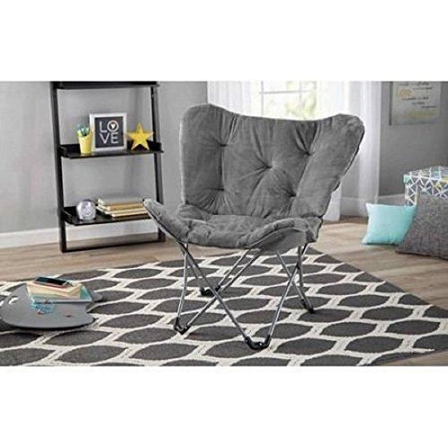 Mainstays Butterfly Chair (Grey) (Microsuede Living Room)