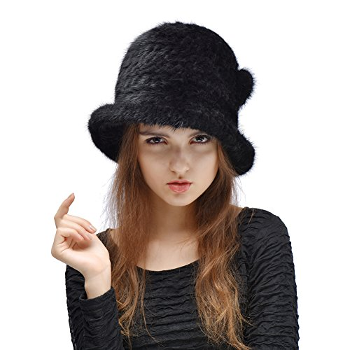 0789222a67e Queenfur Genuine Knitted Winter Womans product image. Score  8.6. Price     . Queenfur Genuine Knitted Mink Fur Hat ...