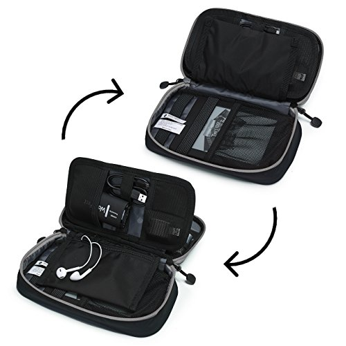 51TebNiEmvL - BAGSMART Travel Electronic Accessories Thicken Cable Organizer Bag Portable Case