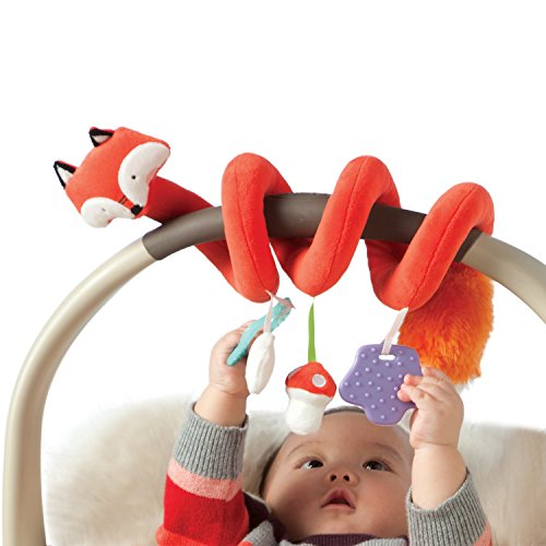 Manhattan Toy Travel + Comfort Fox Activity Spiral Baby Toy (Baby Comfort Toy)