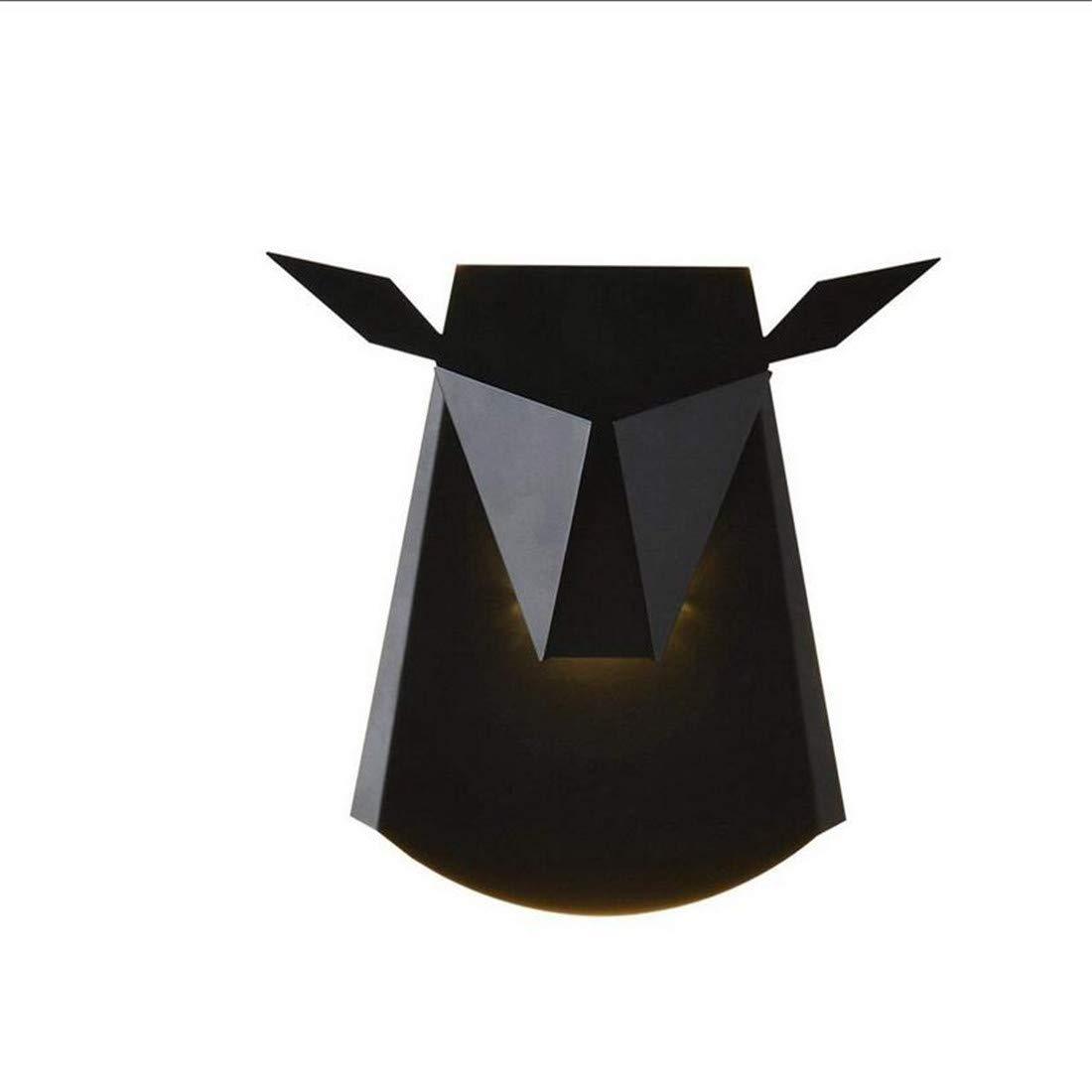 Moderne Kronleuchter-Scheinwerferbefestigung Nordic Postmodern Metall Niu Tou Aussehen Wandleuchten
