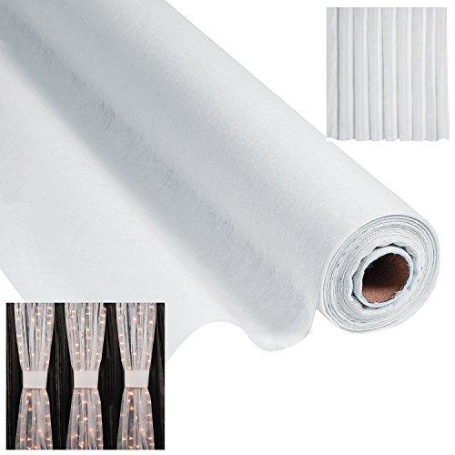 White Gossamer Roll 100 FT X 3 FT Wedding Aisle Decoration Table Cover (3-Pack)