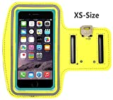 uFashion3C [XS-Size] Sports Armband for iPhone SE / 5S / 5C / 5, Galaxy S4, S3 with OtterBox Commuter or LifeProof Fre Case, Great for Running, Workout and Exercise (Yellow)