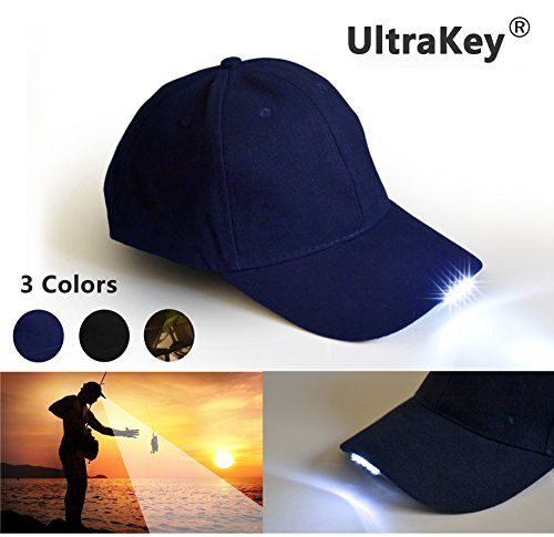 LED Baseball Cap Light Glow Bright Women Men Sport Hat Dark For Outdoor Jogging Breathable Snapback Hats Hip Hop Party Holiday (Blue) (Led Hat Light)