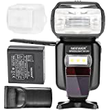 Neewer® Li-ion Battery Flash E-TTL I-TTL HSS Master Slave Flash Speedlite for Canon & Nikon DSLR Camera with Rechargeable 2400mAh Battery+ Charger(NW 870)
