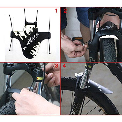 Audio & Video Accessories Audio & Video Accessories Tralntion MTB 1.2MM Mud Guards Cycling Bike Front Bicycle Fender Lightweight Mudguard Bicycle Accessory