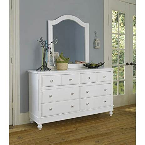 Perfect NE Kids Lake House 8 Drawer Dresser With Mirror In White