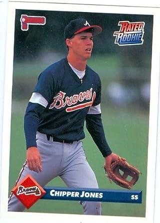 Amazoncom Chipper Jones Baseball Card 1993 Donruss 721