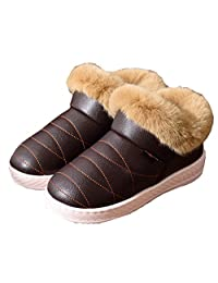 Women Snow Boots Winter Warm Fur Ankle Boots Couple Thick Sole Cotton Shoes