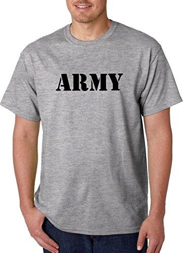 US Army Tee Physical Fitness Uniform Tshirts, Gray T-shirts (X-Large) (Army Gray Tshirt)