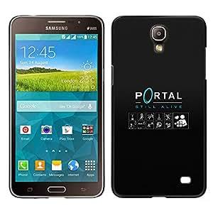 KLONGSHOP // Cubierta de piel con cierre a presión Shell trasero duro de goma Protección Caso - Portal - Samsung Galaxy Mega 2 //