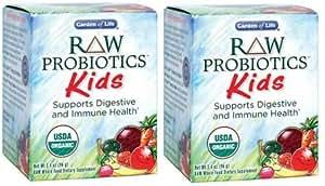 Garden of Life RAW Organic Probiotic Kids, 96g Powder (3.4oz x 2)